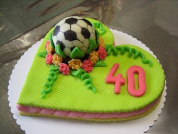 Cake with ball