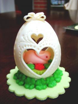Large egg - bunny