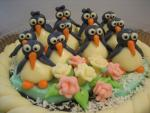 Cake with penguins